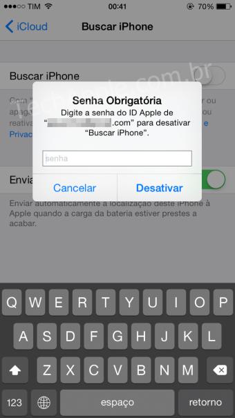 Buscar iPhone - Bloqueio de Ativação
