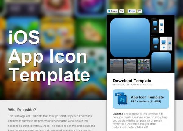 iOS App Icon Template Tech Art Ninja - iphone app icon template