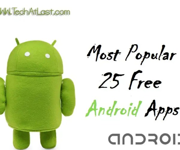 25 free android apps collection