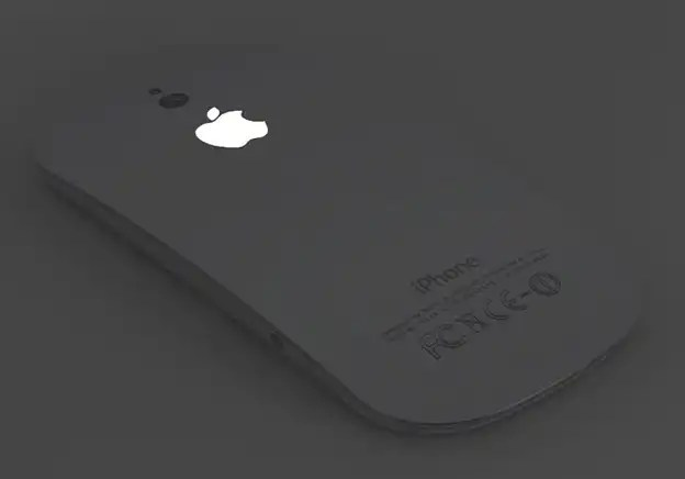 iPhone 5 Concept with Apple logo lit in black by Ciccarese Design