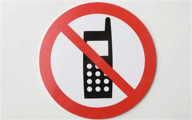 no to mobile phone calling while charging