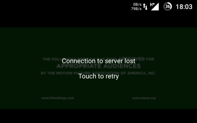 how to fix connection to server lost touch to retry