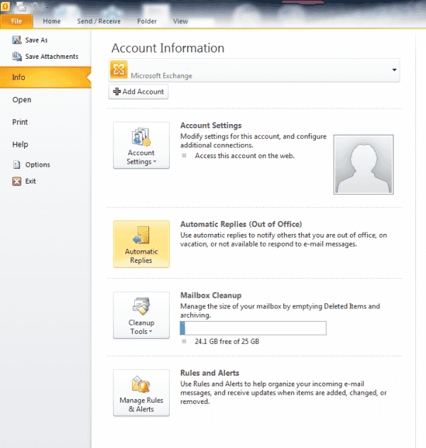 How to set out of office message outlook 2016 techbeasts - Set up out of office in outlook ...