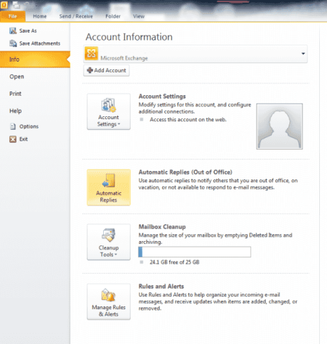 how to create an out of office message in outlook