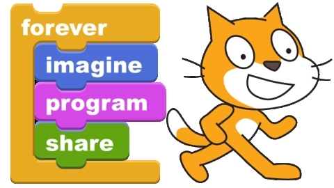 Imagine, program, and share with Scratch!