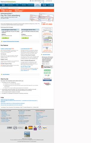Network Solutions: PerformanceClicks!