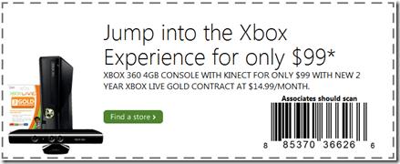 Microsoft Xbox 360 bundle Coupon