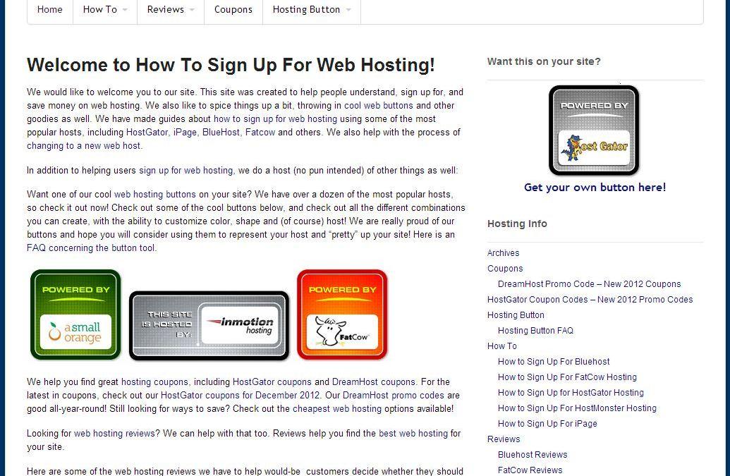 Site highlight:  HowToSignUpForWebHosting.com