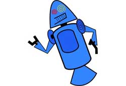 First Android mascots - Blue TC