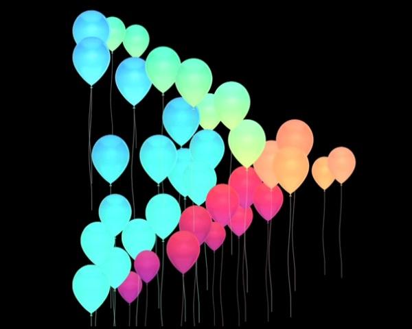 Google Play birthday balloons