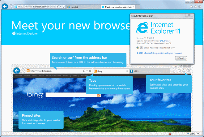 Internet Explorer 11 for Windows 7