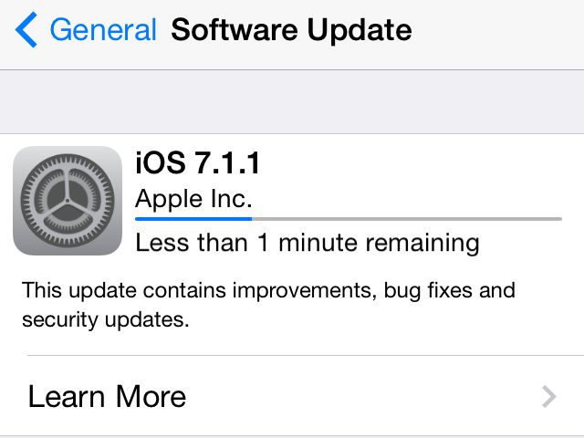 Apple iOS 7.1.1
