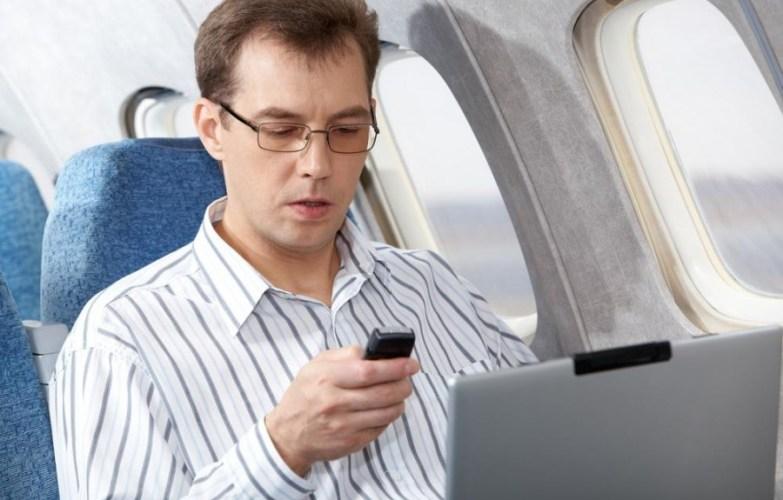In-flight cellphone use