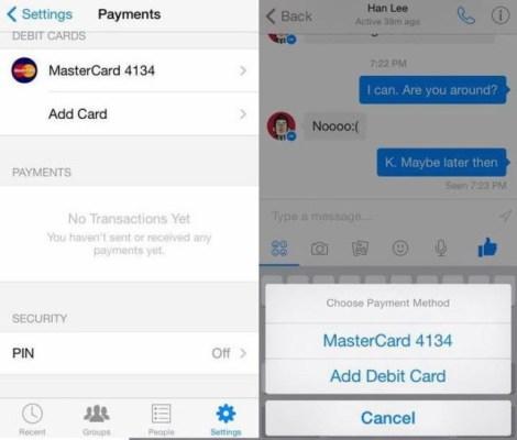 Facebook Messenger Payments leak