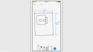 Apple iOS 9 Notes Sketch