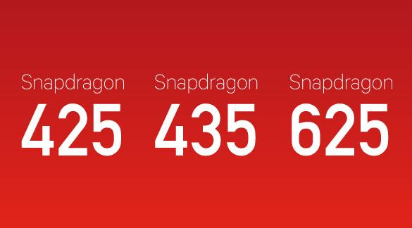 Qualcomm Snapdragon 625 435 425