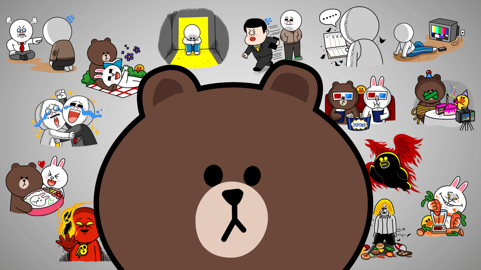 Cute Chat Wallpaper For Whatsapp The Secret Language Of Line Stickers Techcrunch