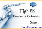 Free High PR Article Submission Sites