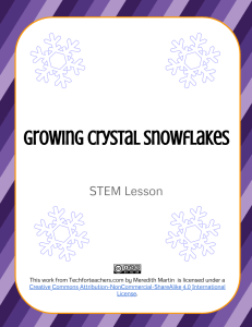 STEM - Crystal Snowflakes