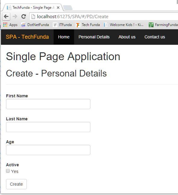 Single Page Application create view in AngularJS - Tech Funda
