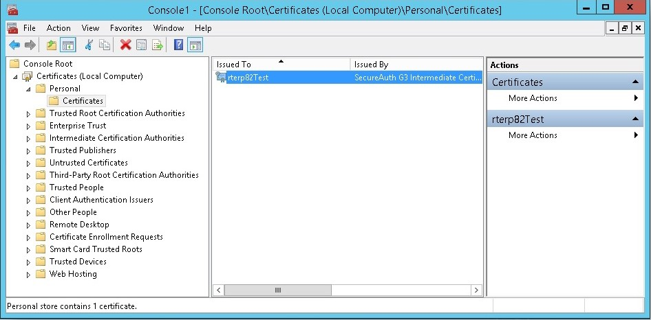 certificate-console