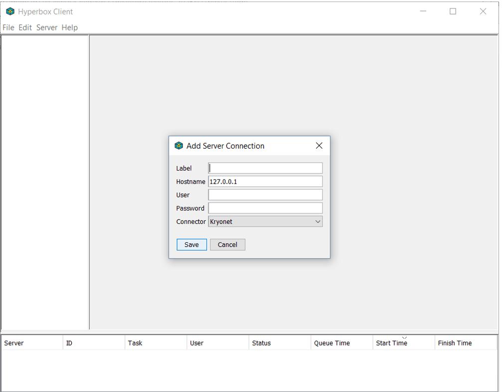 Hyperbox client server connection