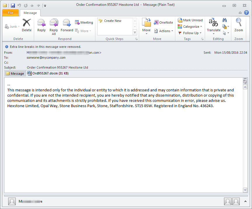 Dridex Baiting Email (photo credit: Proofpoint (https://www.proofpoint.com/us/threat-insight/post/Dridex-returns-to-action-for-smaller-more-targeted-attacks))