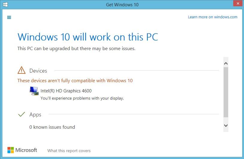 Windows 10 compatibility check