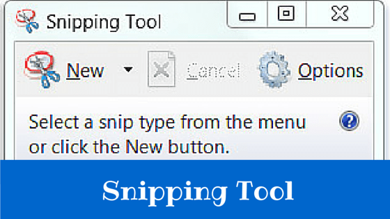 how to open snipping tool with keyboard