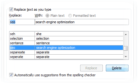 autocorrect for blogger