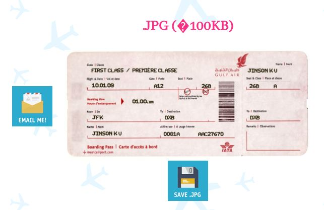 3 Methods to Create Fake Airline Ticket - Boarding Pass Without
