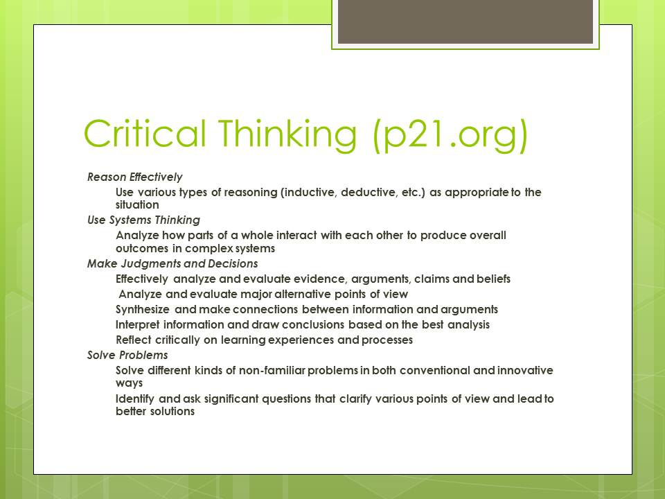 critical thinking article