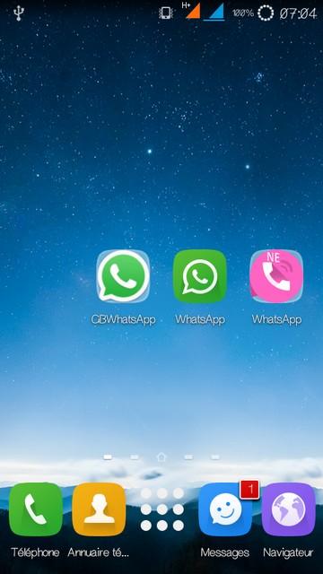 3 Comptes WhatsApp