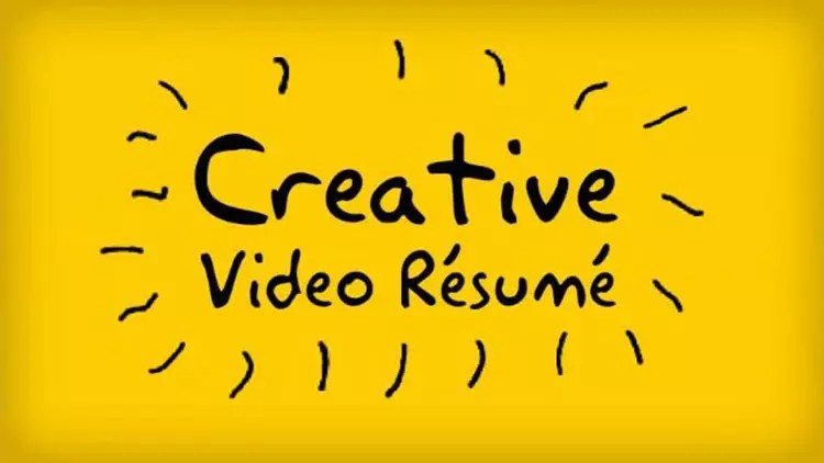 Creative Video After Effects CV / resume templates - video resume