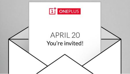 OnePlus April 20 event invite for OnePlus two release