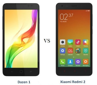 Xiaomi Redmi 2 vs Coolpad Dazen 1 comparison and differences
