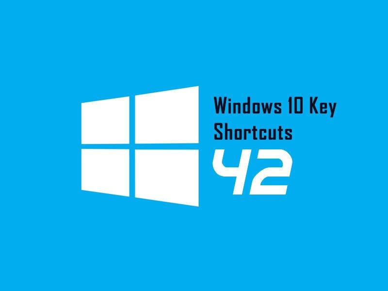 New Microsoft Windows 10 Key Shortcut List