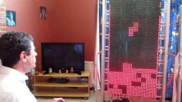 A huge home built computer only for playing Tetris