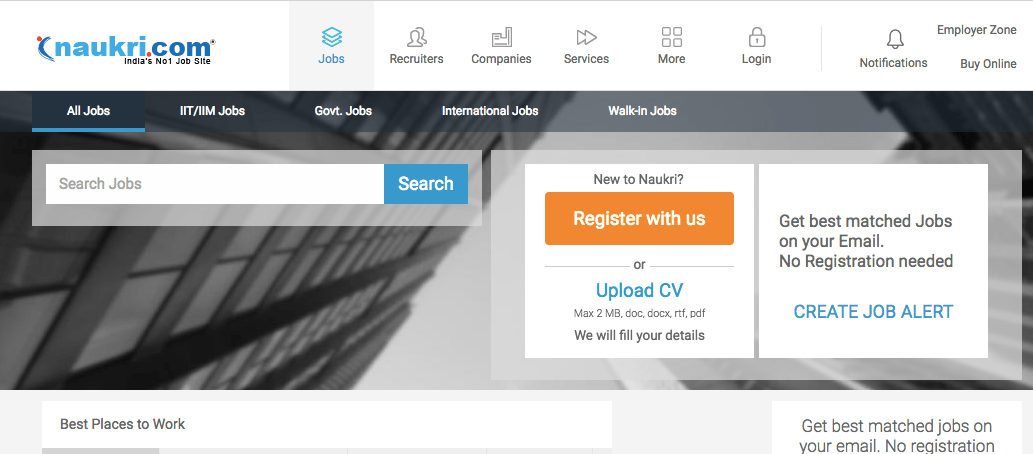 upload your resume in naukri