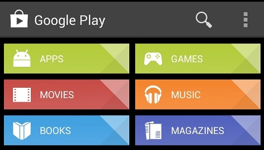 Google Play Store 4.2.3 - Interface
