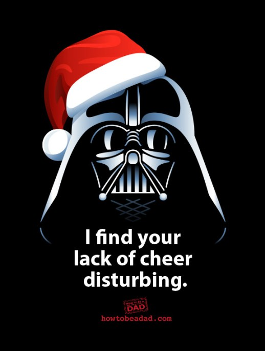 How to be a Dad Darth Vader Santa Says
