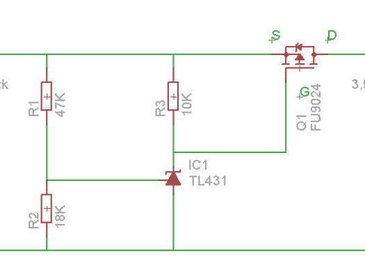 Liion low voltage cutoff schematic
