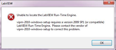 labview run time error