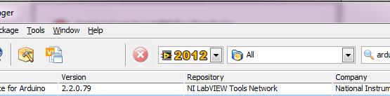 labview arduino interface vælges i installation