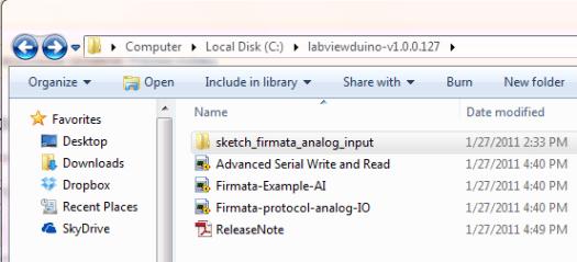 labviewduino fil placering på c drevet