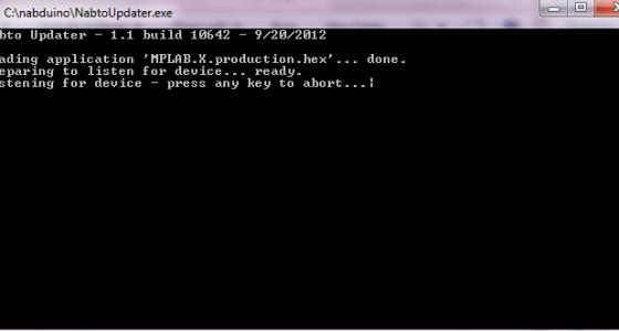 nabtoupdater sender nu hex fil til nabduino