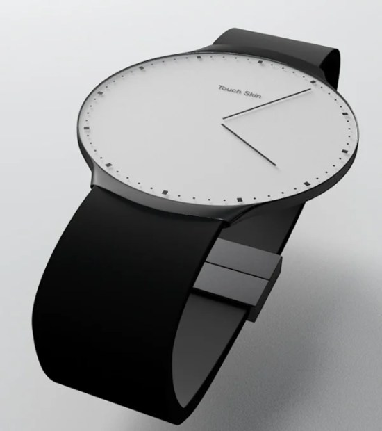 touch skin watch oled concept analog