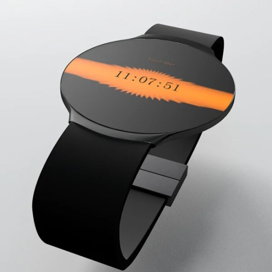 touch skin watch oled concept skin