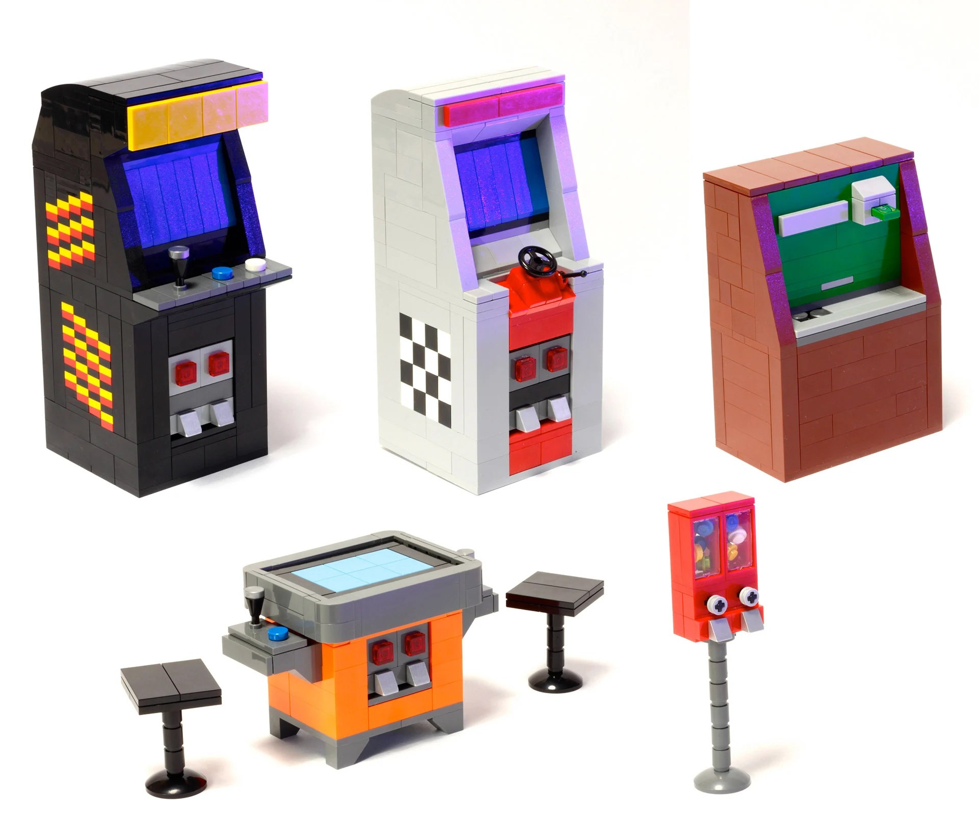 Cool Machines To Build Tiny Lego Arcade Cabinets Hit Lego Ideas Technabob