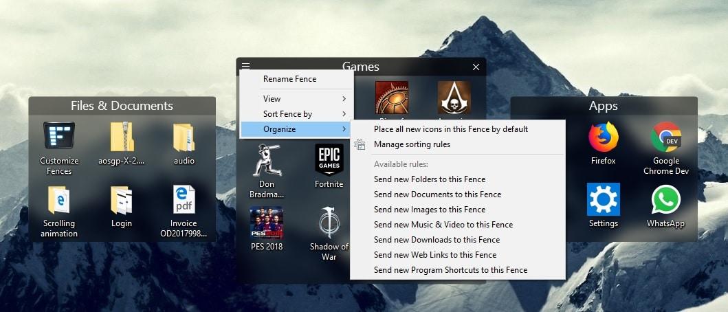 Organize Your Windows Desktop Better with Fences Technastic